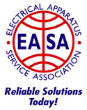 Our electric motors are repaired with high quality standards. We are a member of the EASA (Electrical Apparatus Service Association)
